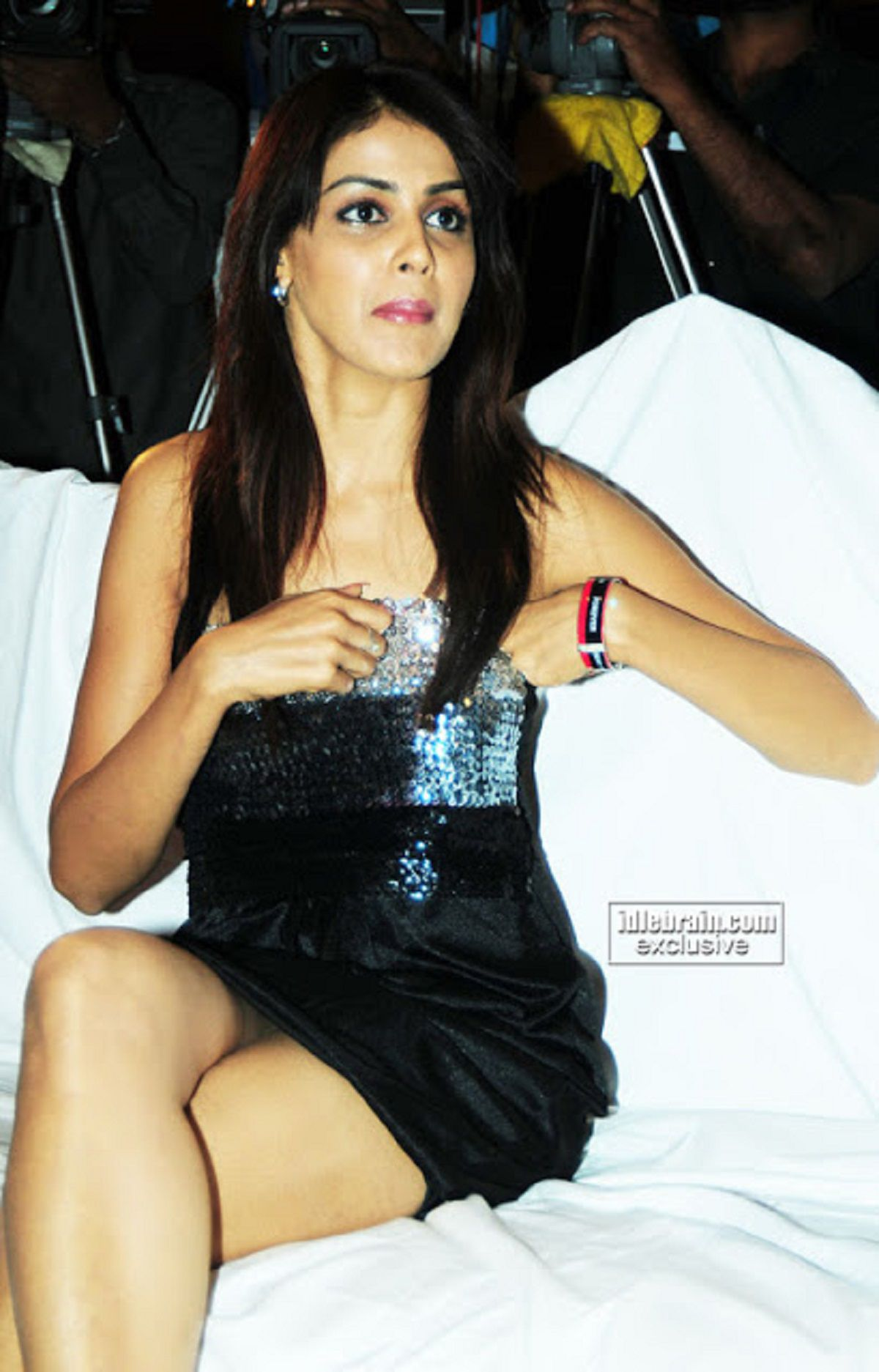 Genelia D'Souza Wardrobe Malfunction Pictures at Recent Party