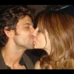 Hrithik Roshan and Suzanne Khan LipLock Kissing Scene