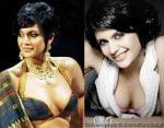 Mandira bedi cleavage show wardrobe malfunction