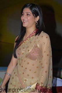 Shruti Haasan Looking Hot in Transparent Saree