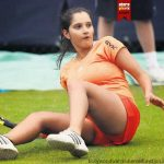 Sania Mirza Oops Moments On Tennis Court
