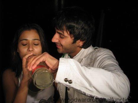Sara Khan spotted Drinking