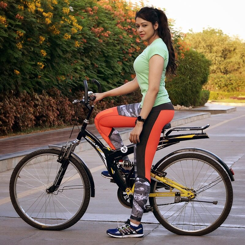 cycling is a good habit that you can learn from her