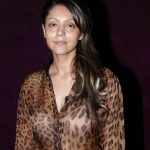 Gauri Khan in a transparent dress