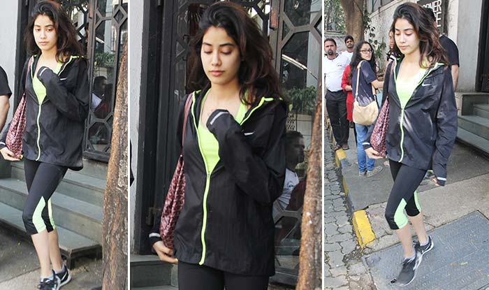 Sridevi's daughter Jhanvi Kapoor seen with boyfriend Shikhar Pahariya on a lunch date