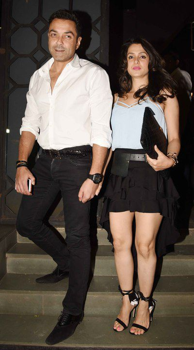 Bobby Deol with wife Tanya Deol