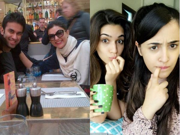 Is Kriti Sanon's sister Nupur Sanon dating Sushmita Sen's brother ?