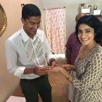 Ashwini-Ponnappa-with-husband-Karan-Medappa