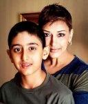 Sonali Bendre with son Ranveer behl