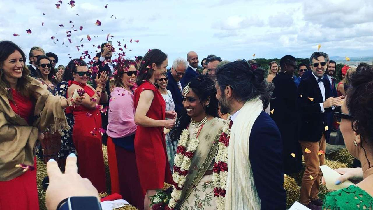 Isa Guha and Richard Thomas Marriage Pictures