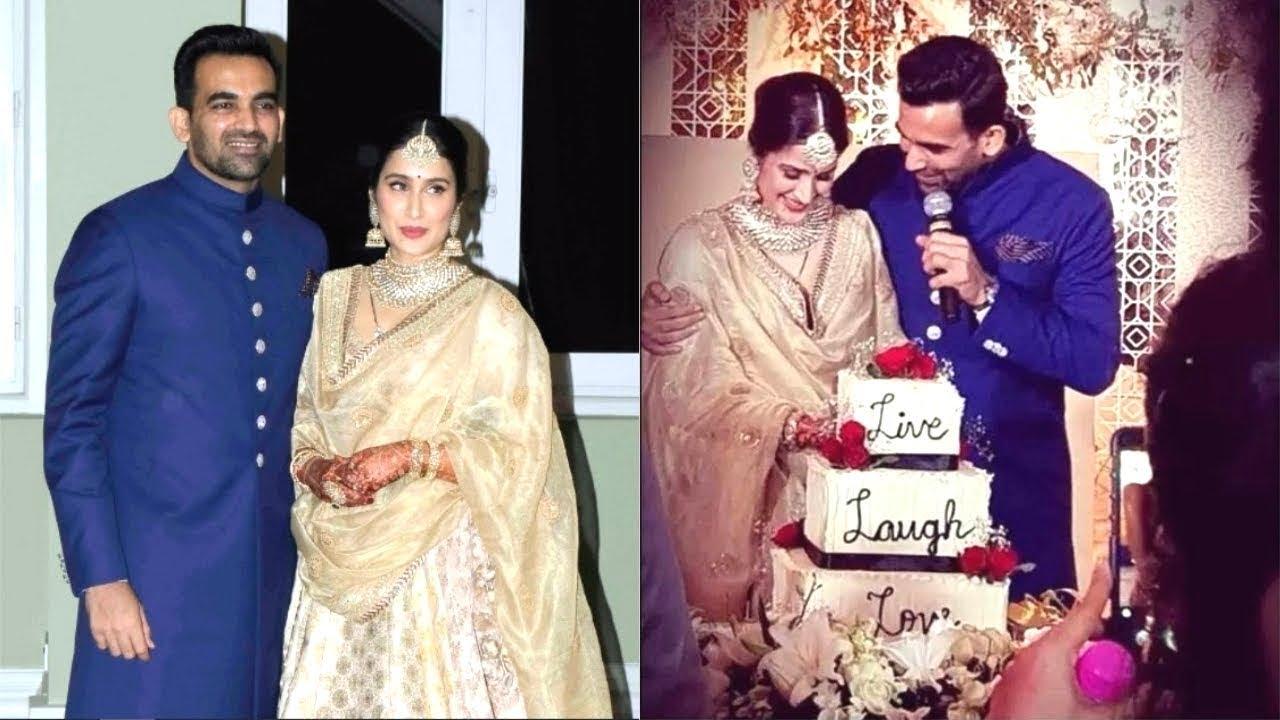 Sagarika Ghatge Zaheer Khan Wedding Picture