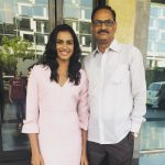 PV Sindhu with father