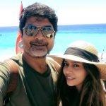 megna-mukherjee-with-father-Mrinmoy-Mukherjee
