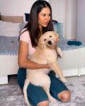 Sonam Bajwa with her pet dog Simba