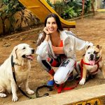 Sonnalli Seygall with Her Dogs