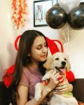 Sophiya Kiran Singh with her Dog