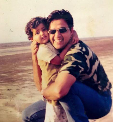 riva kishan childhood photo