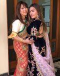 Aashika Bhatia with Minu Bhatia