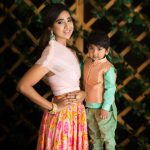 Priya Thalur Balaji with her son Araan Balaji
