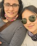 Angira Dhar with her mother Suchitra Dhar