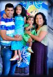 Siddharth Jadhav and Trupti Akkalwar with their daughters
