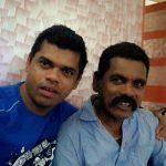 Siddharth Jadhav with his father Ramchandra Jadhav