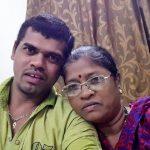 Siddharth Jadhav with his mother Mandakini Jadhav