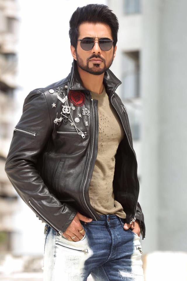 Sonu Sood in Leather Jacket