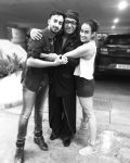 Ranjeet with his daughter divyanka bedi and son jeeva bedi