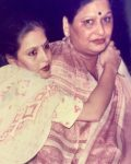 Bunty Bajaj with her mother