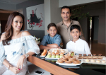 Gayatri Joshi with Husband and Sons