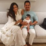 Keenan Tham with wife Neha Tham and Daughter Norah Tham