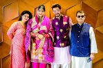 Manish Raisinghan and Sangeita Chauhaan with Rahul and Soniya-Prithiani