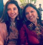 Miheeka Bajaj With Her mother Bunty Bajaj