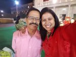 Purva Parag with father Romesh Joshi