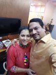 Purva Parag with husband Parag Chhapekar