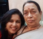 Purva Parag with mother