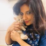 Shazia Ilmi with her kitten Luna
