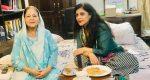 Shazia Ilmi with her mother Naushaba Ilmi