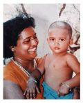 Sushrii Shreya Mishraa with mother Sabita Rani Panda