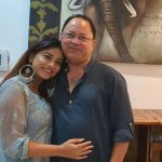 Bhumika Gurung with her father Aditya