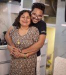 Jaan Kumar Sanu with mother Rita Bhattacharya