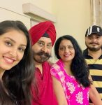 Navneet Kaur Dhillon family picture