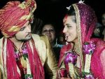 Ridhi Dogra and Raqesh Bapat Marriage Picture