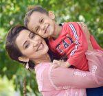 Barsha Rani Bishaya with son Ebu