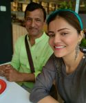 Rubina Dilaik with father Gopal Dilaik