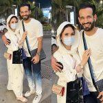 Irfan Pathan with wife Safa Baig