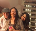 Mahima Chaudhry with her parents