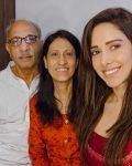 Nushrat Bharucha with parents