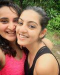 Amrita Prakash with mother